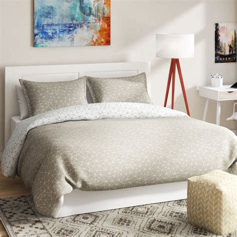adamson geometric maze reversible duvet cover set by .