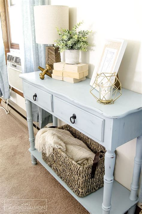 beautiful beachy blue side table with robin s egg blue .