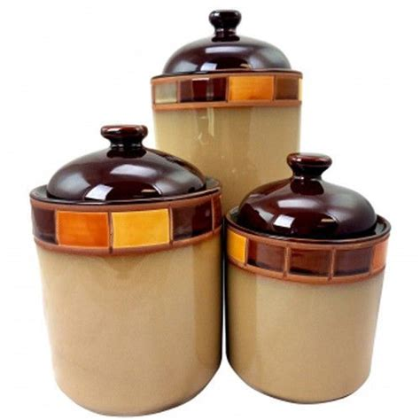 gibson casa estebana 3-Piece canister set best buy .