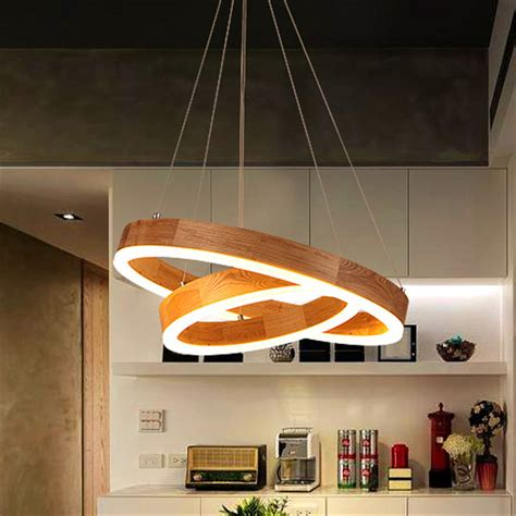 modern pendant light led ring chandelier ceiling light .