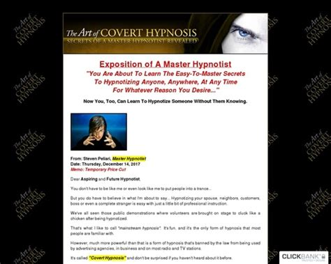 @  New The Art Of Covert Hypnosis - Massive Commissions .