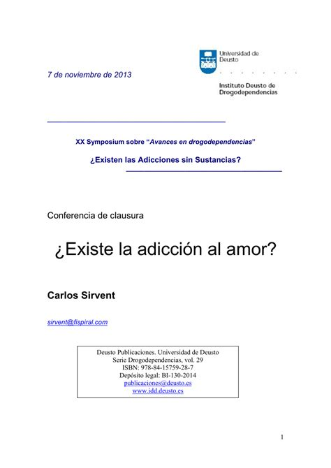 @ Pdf Existe La Adicci N Al Amor Does Exist To Love .