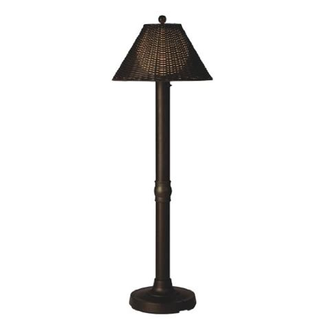 tahitti 17207 bronze 60 inch floor lamp with walnut .