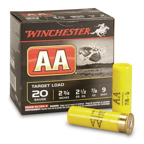 review aa target ammo 20 gauge 2-3 4 7 8 oz 9 shot .