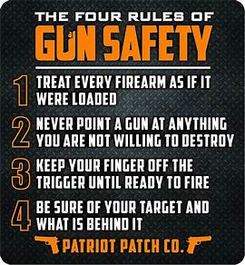 4 firearms safety rules