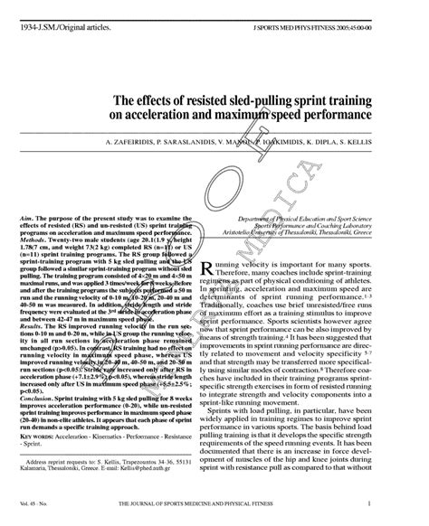 (pdf) The Effects Of Resisted Sled-Pulling Sprint Training On.