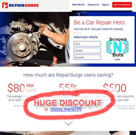 @ - Get Repairsurge Online Auto Repair Manual Discounted .