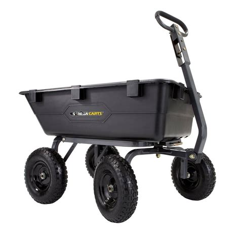 1 200 Lb Heavy Duty Poly Dump Cart - The Home Depot.