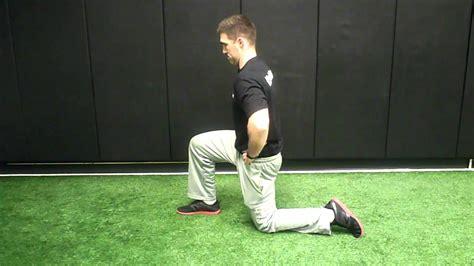 1 \/2 kneeling hip flexor stretch youtube sciatica exercises