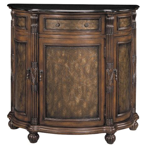 1 Drawer Curved Demilune Accent Cabinet
