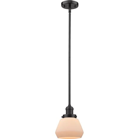 1-Light Fulton 7 Mini Pendant Oil Rubbed Bronze Glass .