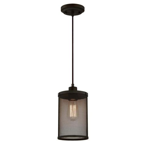 1-Light Oil Rubbed Bronze Adjustable Mini Pendant With .