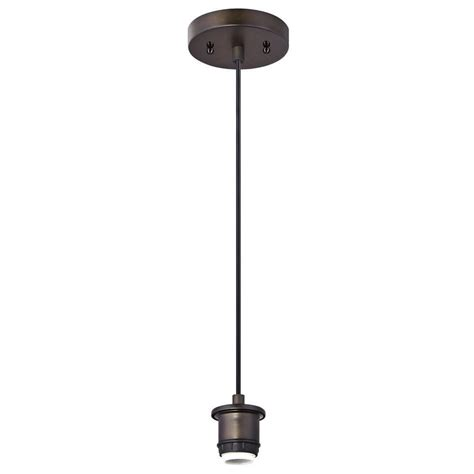 1-Light Oil-Rubbed Bronze Adjustable Mini Pendant.