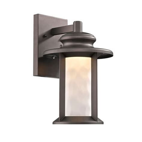 1-Light Transitional Outdoor Wall Sconce In Oil Rubbed .