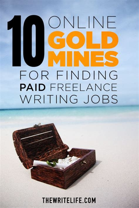 @ 10 Online Gold Mines For Finding Paid Freelance Writing Jobs.