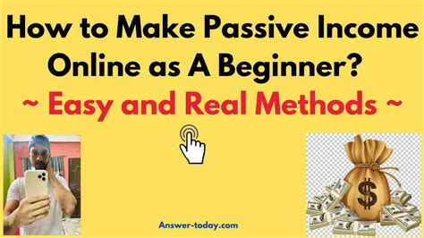 @ 10 Ways To Make Passive Income Online.