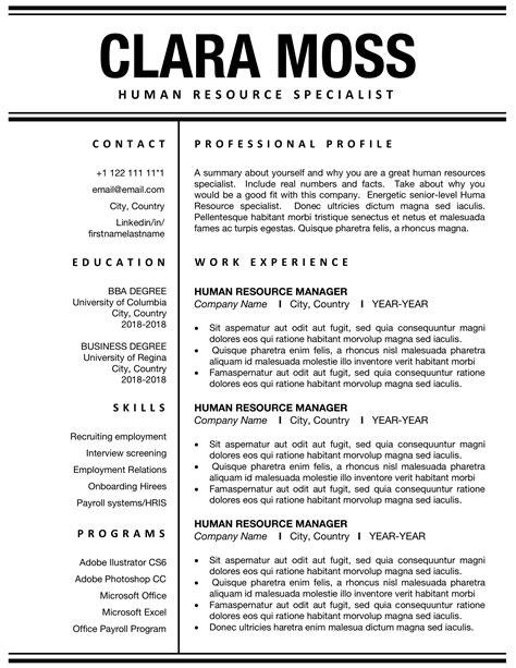 hr director resume hr director resume sample hr resume samples hr resume template essay sample free - Hr Resume Format