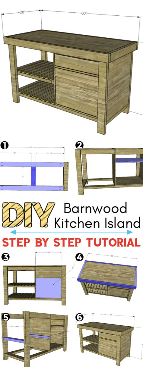 10 Free Kitchen Island Plans