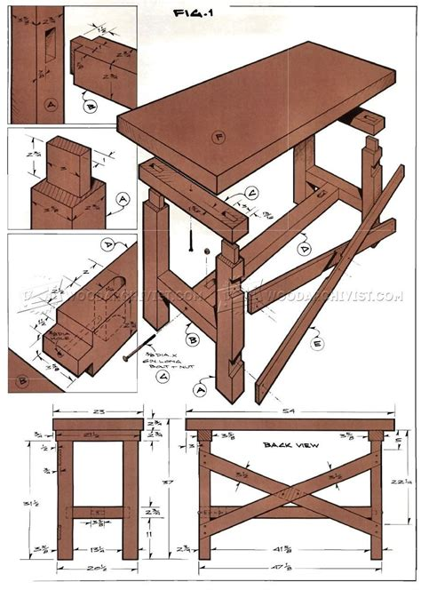 10 Free Woodworking Bench Plans