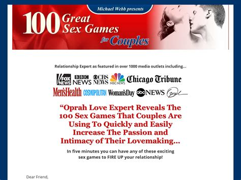 100 Great Sex Games For Couples By Michael Webb\, Oprah Love.