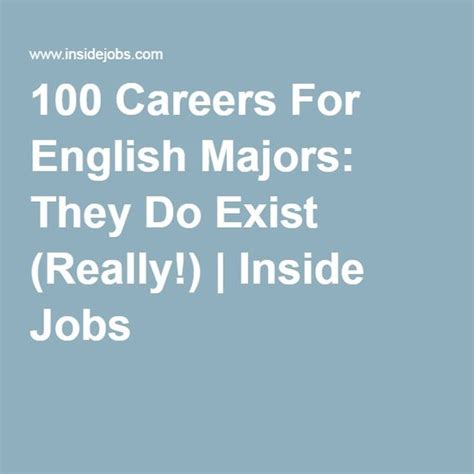 Majors For Lawyer 100 Careers For English Majors They Do Exist Really