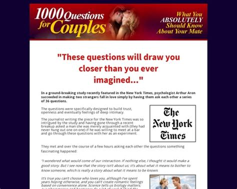 [pdf] 1000 Questions For Couples - Official Site.