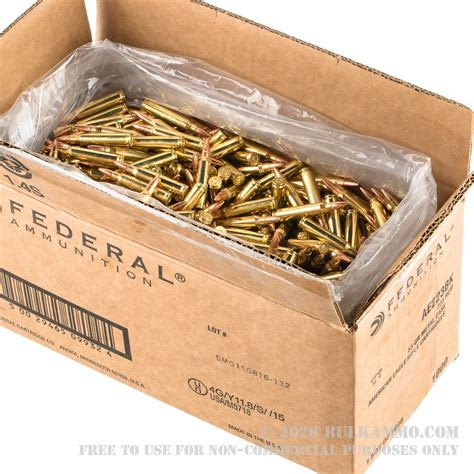 1000 Rounds Of Bulk 223 Ammo By Federal American Eagle .