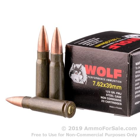 1000 Rounds Of Bulk 7 62x39mm Ammo By Wolf - 123gr Fmj.