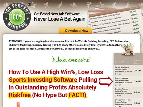 @ 100winner - Top Arbitrage Betting Software 100percent Winners.