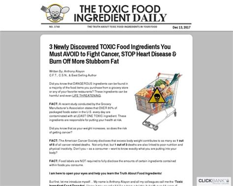 [click]101 Toxic Food Ingredients   New Conversion Breakthrough .