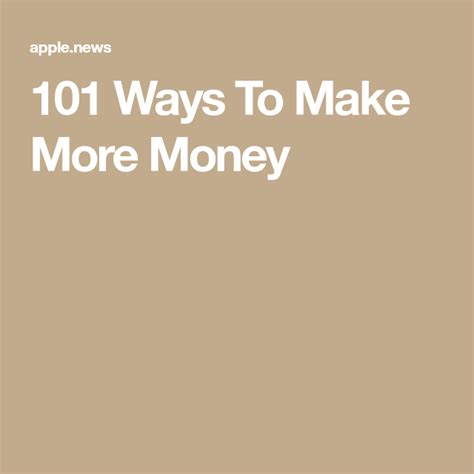 101 Ways To Make More Money - Forbes.