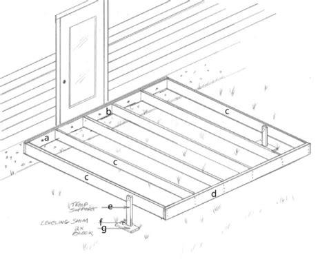 10x10 Wooden Deck Plans