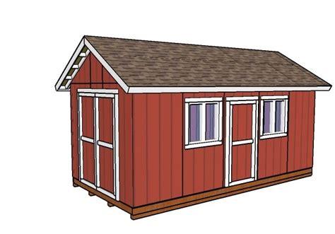 10x20 Storage Shed Plans