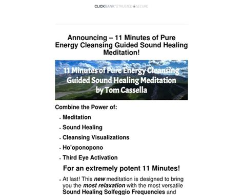 @ 11 Minutes Of Pure Energy Cleansing Guided Sound Healing .