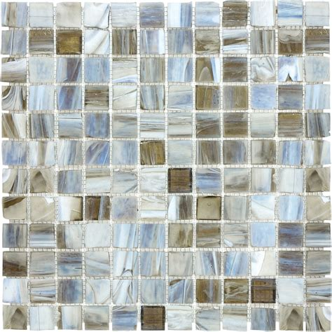 12-In X 12-In Blue Gray Tones Glass Wall Tile - Bath 3 .