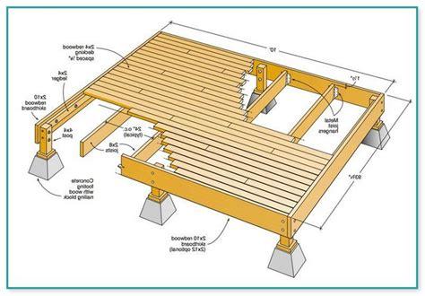 12x12 Freestanding Deck Plans