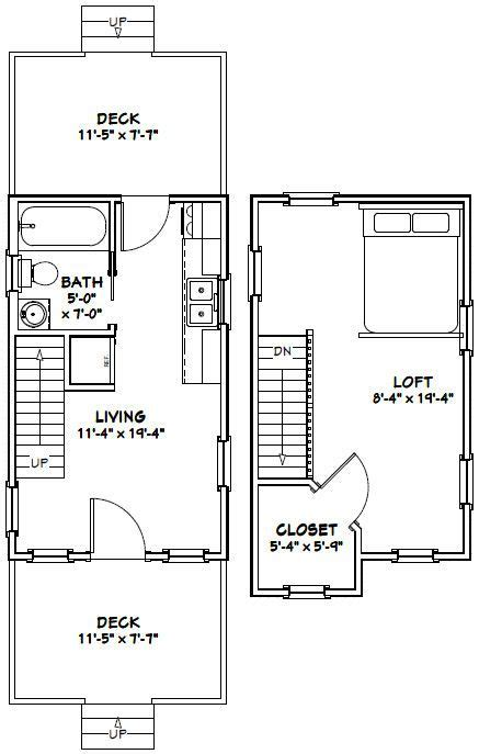 12x20 Tiny House Floor Plans Free