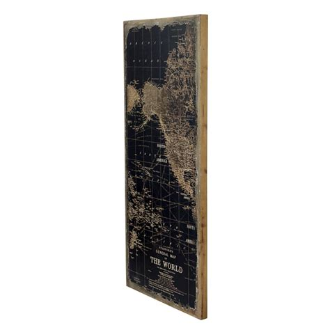 1434 - Stanford World Map Wall Decor Set Of 3 .