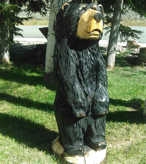 15 Stump Black Bear Chainsaw Carving - Crazy-Bike Com.