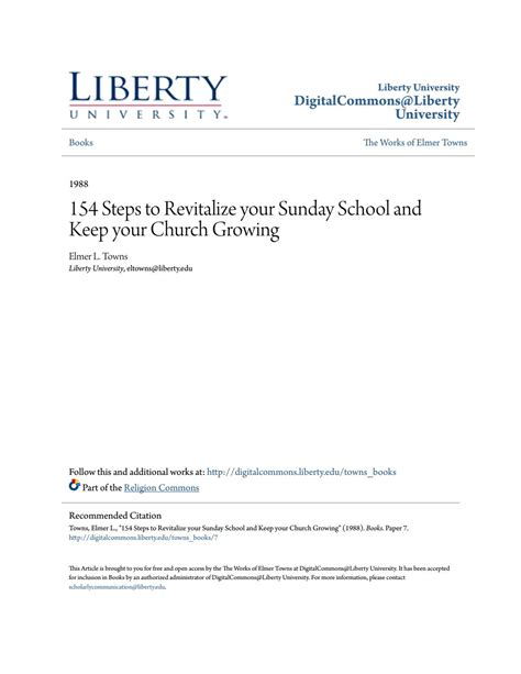 [pdf] 154 Steps To Revitalize Your Sunday School And Keep Your .