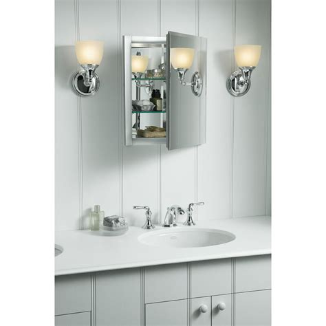 "16"" x 20"" Recessed Frameless Medicine Cabinet with 2 Adjustable Shelves"
