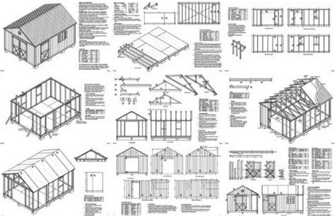 16 X 12 Shed Plans