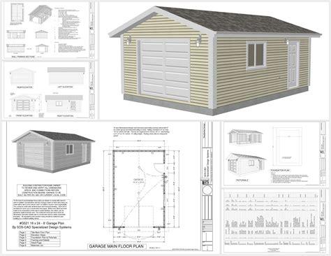 16 X 24 Garage Plans Free