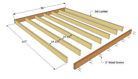16 X 8 Deck Plans