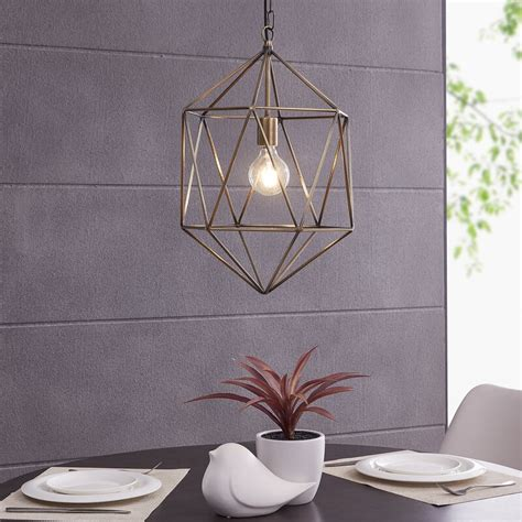 17 Stories Lakeshia 1-Light Geometric Pendant From Wayfair .