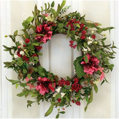 19 Mixed Flower Wreath By August Grove .