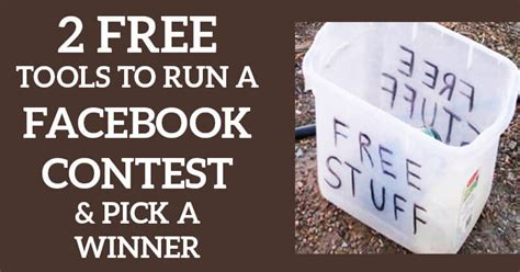 [click]2 Free Tools To Run A Facebook Contest  Pick A Winner.