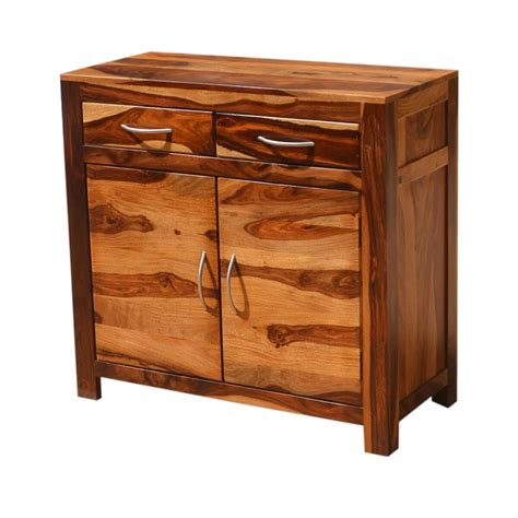 2 Door and 2 Drawer Wood Accent Cabinet