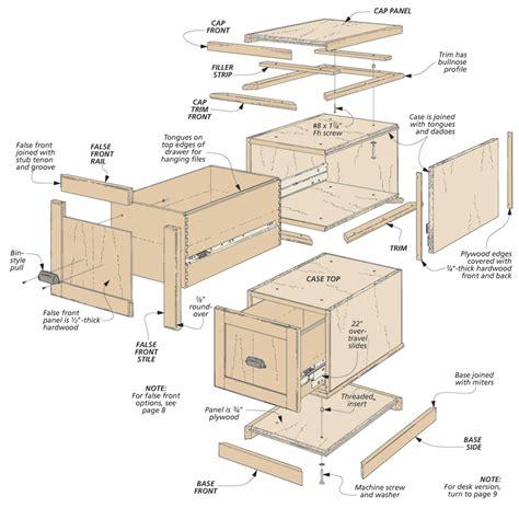 2 Drawer Wood File Cabinet Plans