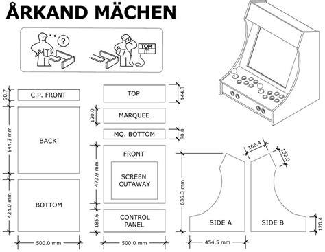 2 Player Bartop Arcade Cabinet Plans